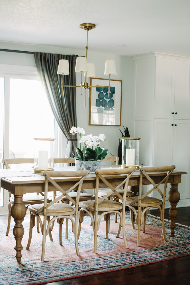 This Rustic Transitional Farmhouse Style Dining Room Featured On Domino Gets Recreated For Less By Copycatchic Luxe Living Budget Home Decor And