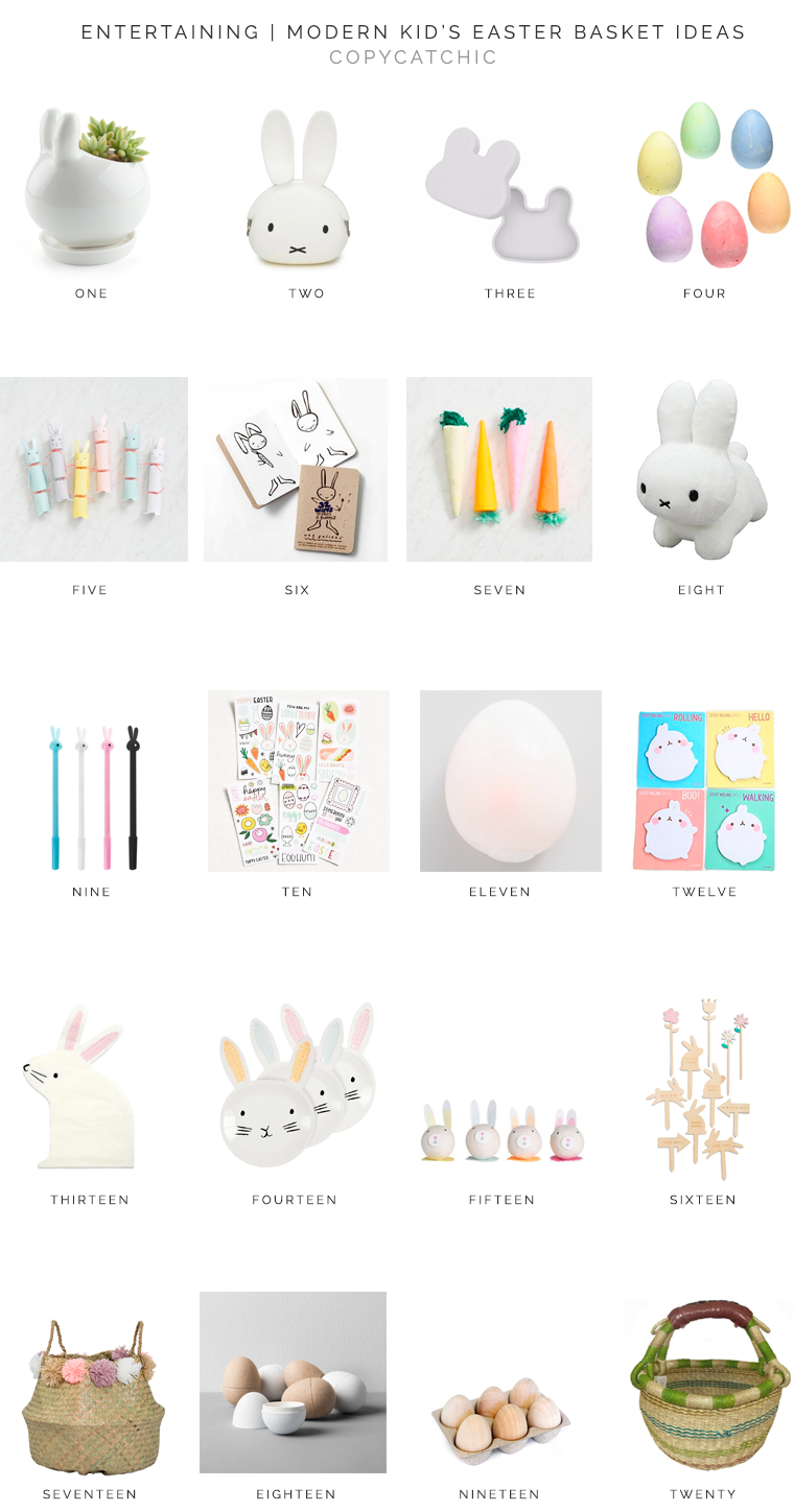 modern minimal easter baskets for kids no candy just fun copycatchic luxe living for less