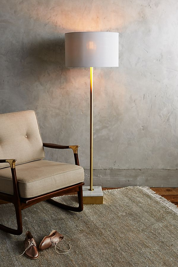 Anthropologie Anchorage Floor Lamp $548 vs Designer Living Bringham Floor Lamp $127 marble gold floor lamp look for less copycatchic luxe living for less budget home decor and design daily finds and room redos