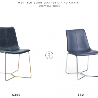 Daily Find | West Elm Slope Leather Dining Chair