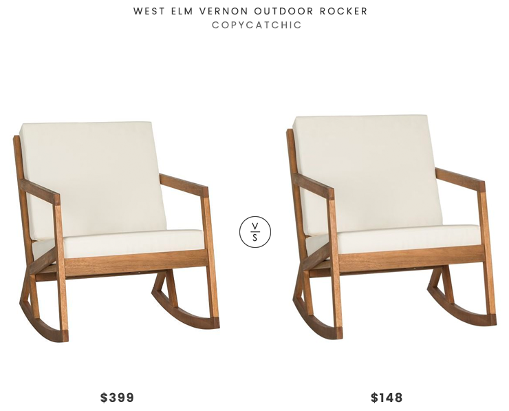 Fabulous Daily Find West Elm Vernon Outdoor Rocker Copycatchic Forskolin Free Trial Chair Design Images Forskolin Free Trialorg