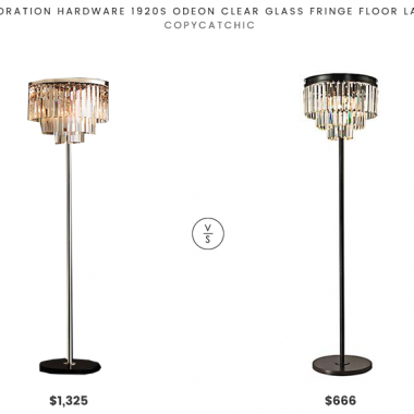 Daily Find | Restoration Hardware 1920s Odeon Clear Glass Fringe Floor Lamp
