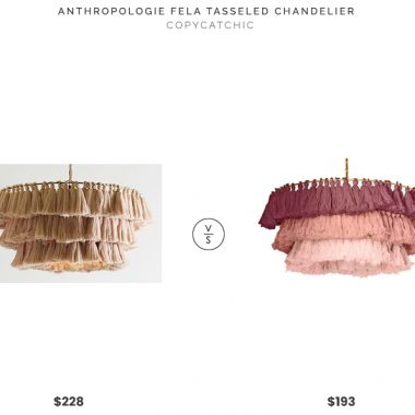 Anthropologie Fela Tasseled Chandelier $228 vs High Fashion Home Justina Blakely Fela Chandelier $193 tiered tassel chandelier for less copycatchic luxe living for less budget home decor and design daily finds and room redos