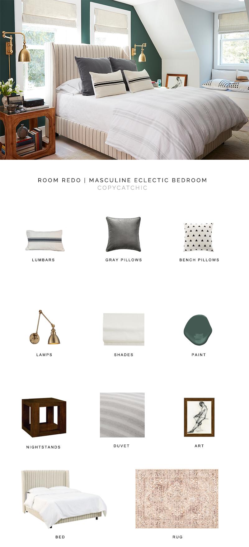 Room Redo Masculine Eclectic Bedroom Copycatchic