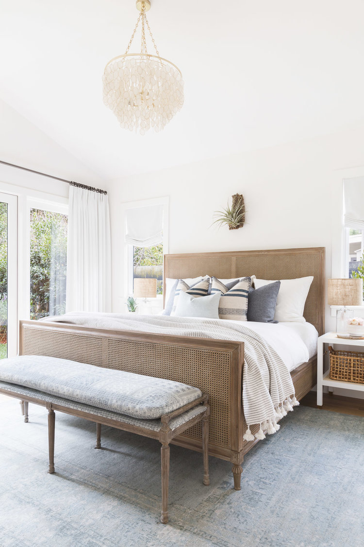 Serena & Lily Harbour Cane Headboard $1,198 vs Pier 1 Kenai Natural Rattan Stonewash Queen Headboard $239 cane headboard look for less copycatchic luxe living for less budget home decor and design daily finds, home trends and room redos