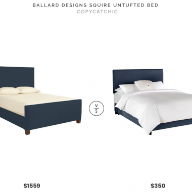 Ballard Designs Squire Untufted Bed $1559 vs Joss & Main Ella Upholstered Panel Bed $350 upholstered bed for less copycatchic luxe living for less budget home decor and design daily finds and room redos