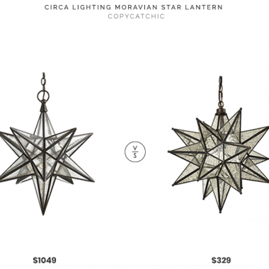 Circa Lighting Moravian Medium Star Lantern$1049 vs Ballard Designs Moravian Star Lantern$329 morovian star lantern chandelier pendant look for less copycatchic luxe living for less budget home decor and design daily finds and room redos