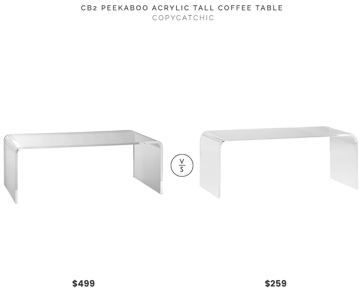 Daily Find CB Peekaboo Acrylic Tall Coffee Table Copycatchic - Cb2 peekaboo coffee table