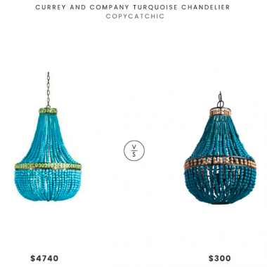 Daily Find | Currey and Company Turquoise Chandelier