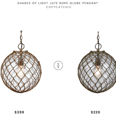 Daily Find | Shades of Light Jute Rope Globe Pendant