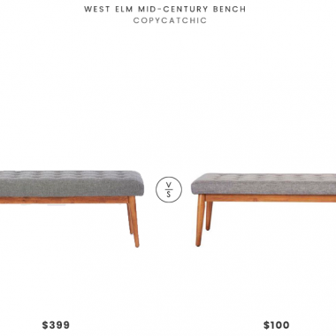 Daily Find | West Elm Mid-Century Bench