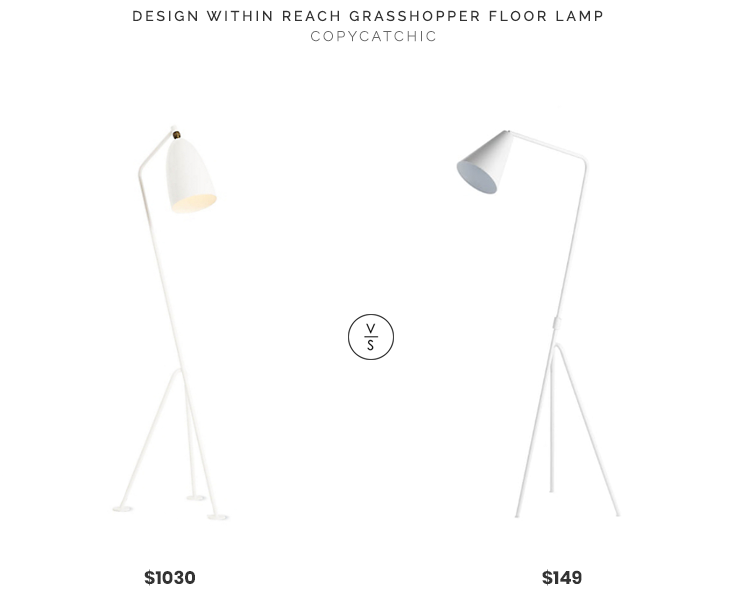 Design Within Reach Grasshopper Floor Lamp $1030 vs Article Gira Floor Lamp $149 modern mid century ispired grasshopper floor lamp look for less copycatchic luxe living for less budget home decor and design daily finds and room redos