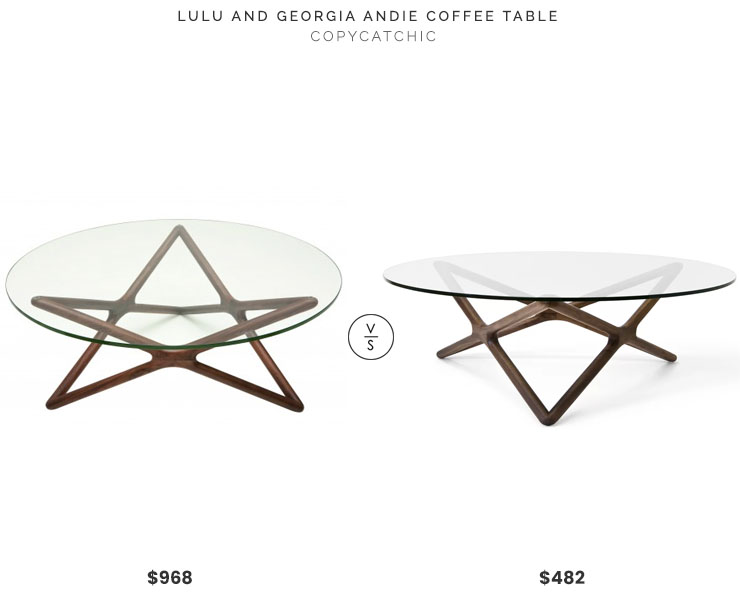 Lulu and Georgia Andi Coffee Table $968 vs Wayfair Aeon Furniture Starlight Coffee Table $482 star coffee table look for less copycatchic luxe living for less budget home decor and design daily finds, home trends and room redos