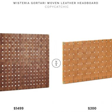 Wisteria Gortari Woven Leather Headboard $1499 vs Target Tansy Strap Headboard $200 leather woven headboard look for less copycatchic luxe living for less budget home decor and design, daily finds, home trends and room redos