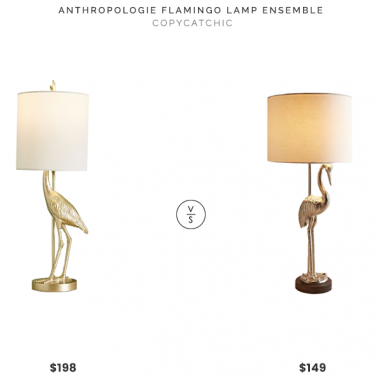 Daily Find | Anthropologie Flamingo Ensemble Lamp