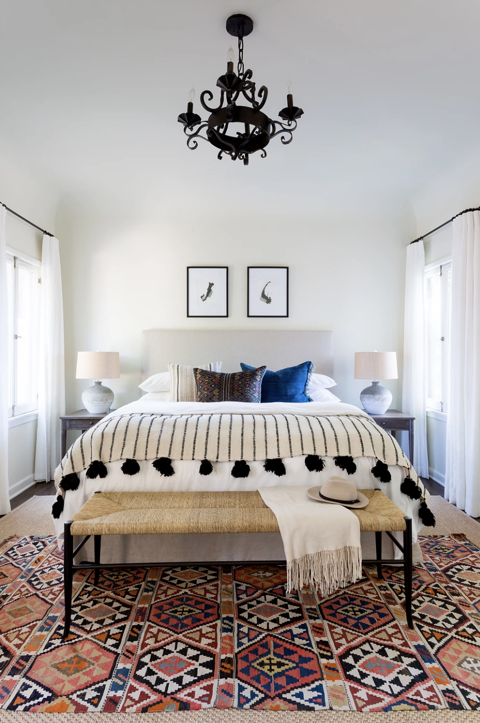 This Bright Boho Bedroom By Katie Hodges Gets Recreated For Less By  Copycatchic Luxe Living For Less Budget Home Decor And Design Daily Finds, Home  Trends ...