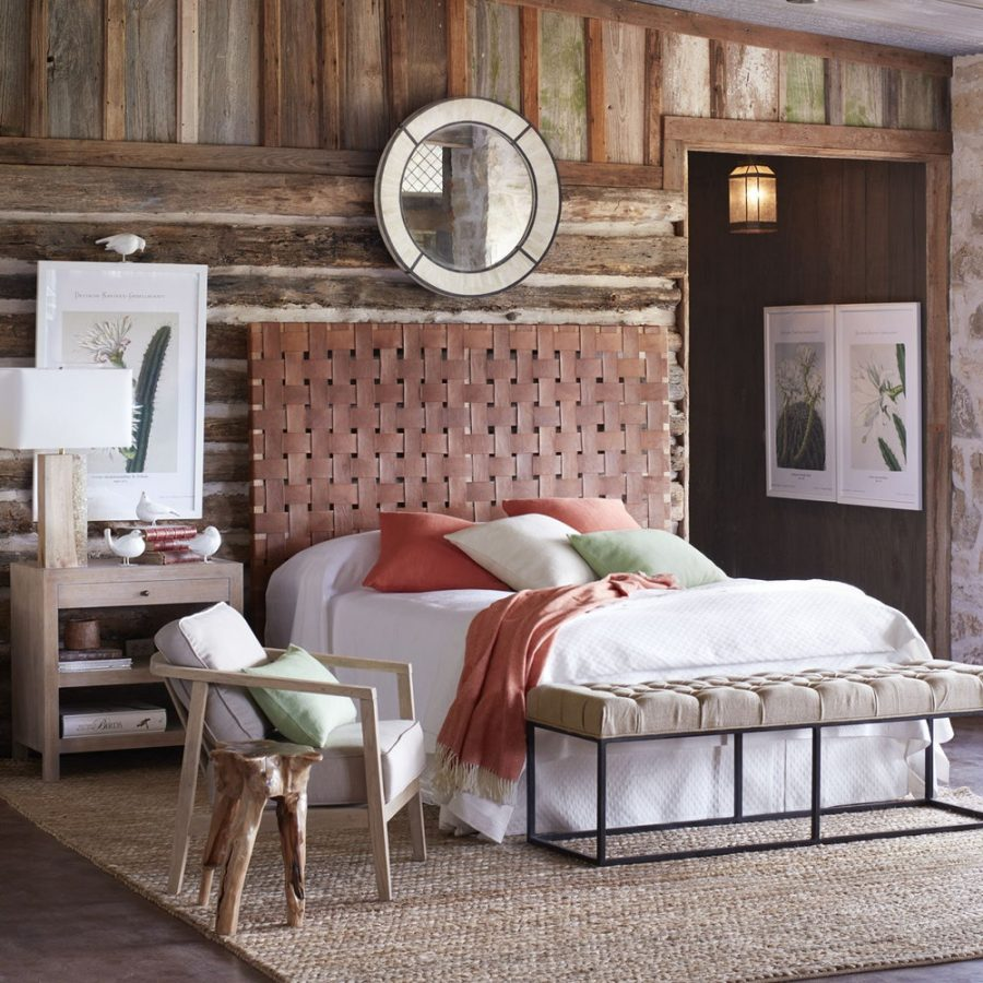 Daily Find Wisteria Gortari Woven Leather Headboard