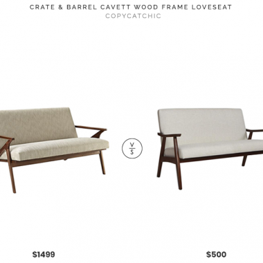 Daily Find | Crate and Barrel Cavett Wood Frame Loveseat