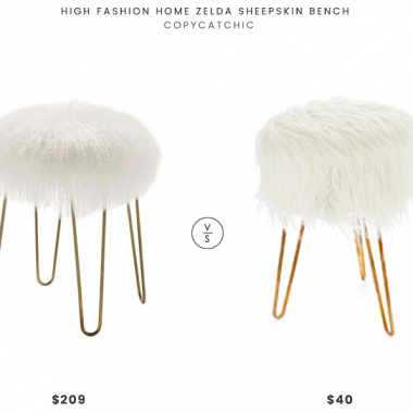 Daily Find | High Fashion Home Zelda Sheepskin Bench