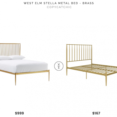 Daily Find | West Elm Stella Brass Bed