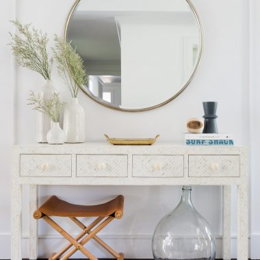 This light and airy california coastal chic entryway designed by Nicole from Eye for Pretty gets recreated for less by copycatchic luxe living for less budget home decor and design daily finds, home trends and room redos