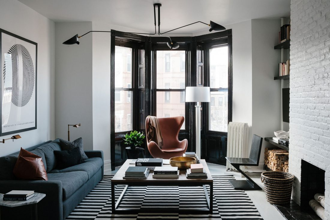 Room Redo | Graphic Black and White Living Room