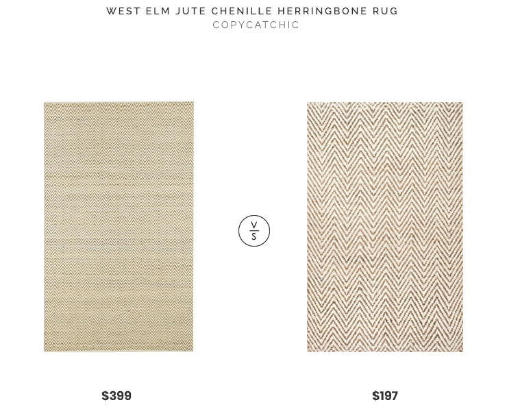 Daily Find | West Elm Jute Chenille Herringbone Rug