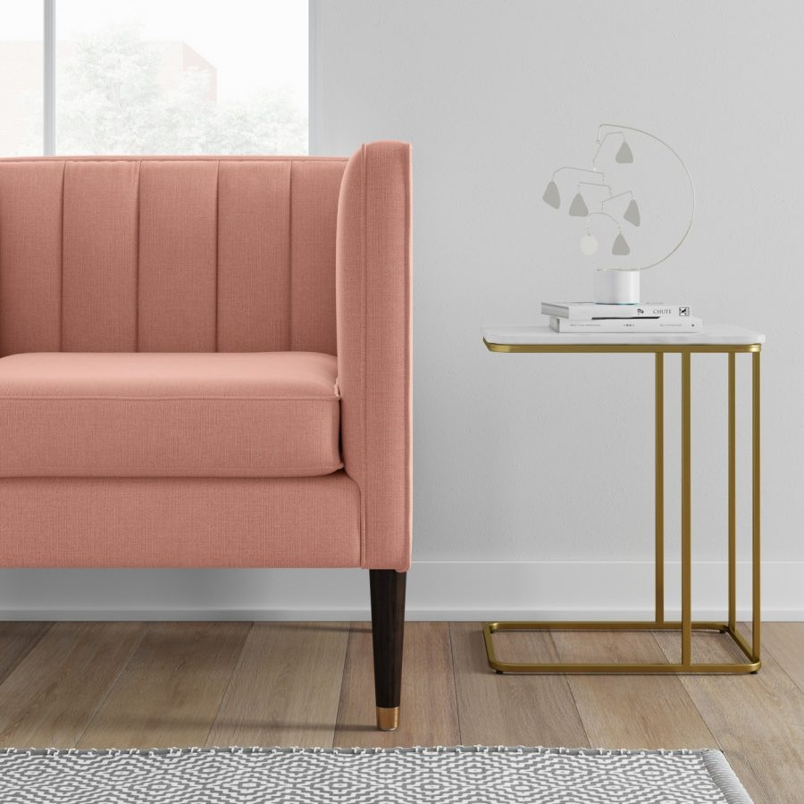 Four Hands Adalley C Table $365 vs Target Project 62™ Highfield C Table $80 gold and marble c side table look for less copycatchic luxe living for less budget home decor and design, daily finds, travel, home trends, sales and room redos