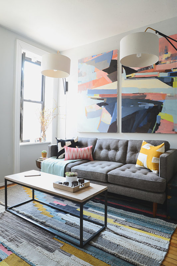 West Elm Pixel Steps Rug $629 vs Target Project 62 Abstract Tufted Area Rug $324 multicolor modern rug look for less copycatchic luxe living for less budget home decor and design daily finds, home trends and room redos