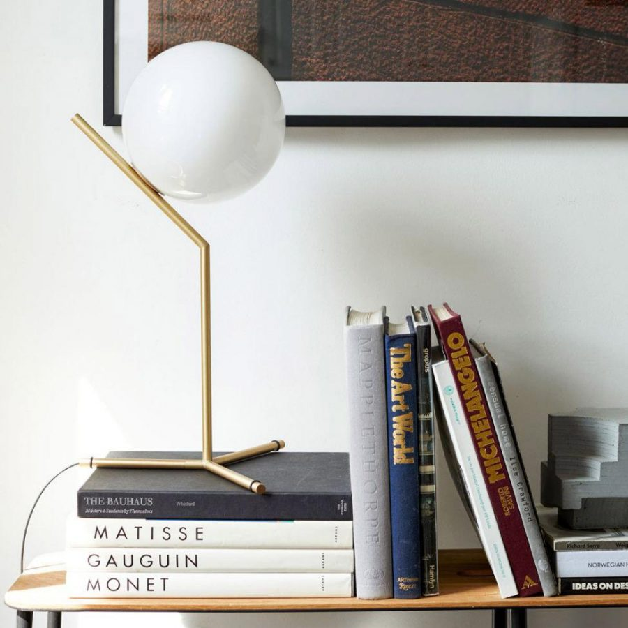 Design Within Reach IC T1 High Table Lamp $695 vs Amazon Rivet Table Lamp $60 modern gold globe table lamp look for less copycatchic luxe living for less budget home decor and design, daily finds, sales, home trends, budget travel and room redos