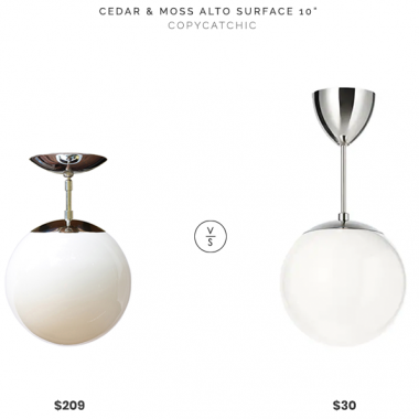 "Cedar & Moss Alto Surface 10"" $209 vs IKEA Höljes Pendant $30 modern globe pendant look for less copycatchic luxe living for less budget home decor and design, daily finds, home trends, sales and room redos"