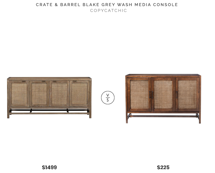 Daily Find | Crate and Barrel Blake Grey Wash Media Console