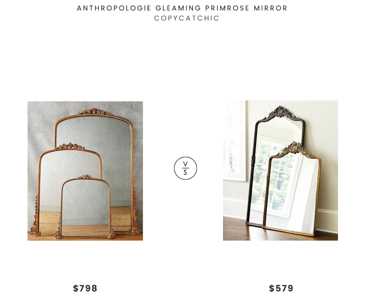 Anthropologie Gleaming Primrose Mirror $798 vs Ballard Designs Beaudry Mirror $579 antique french mirror look for less copycatchic luxe living for less budget home decor and design daily finds room redos and home trends