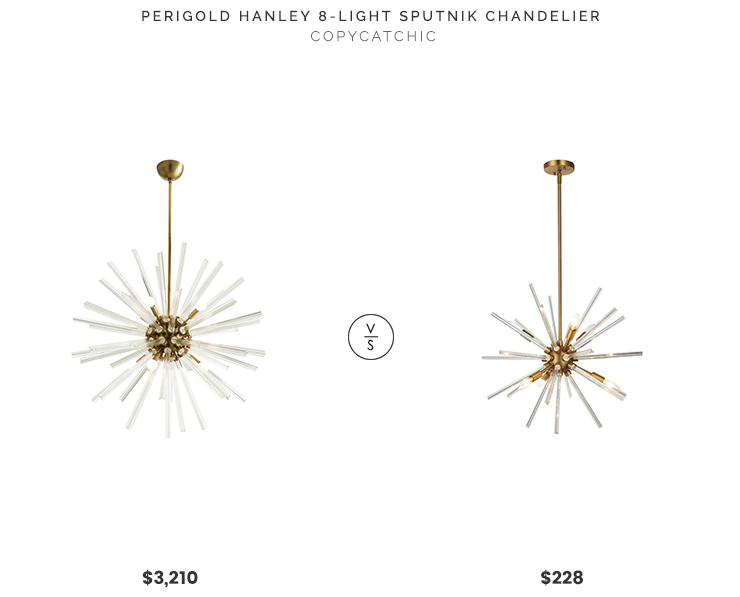 Perigold Arteriors Hanley 8-Light Sputnik Chandelier $3210 Home Depot OVE Decors Harbin 6-Light Antique Bronze Chandelier $228 crystal sputnik chandelier look for less copycatchic luxe living for less budget home decor and design daily finds room redos, home trends, sales, budget travel