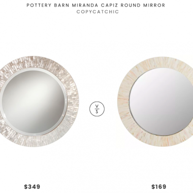 Daily Find | Pottery Barn Miranda Capiz Round Mirror