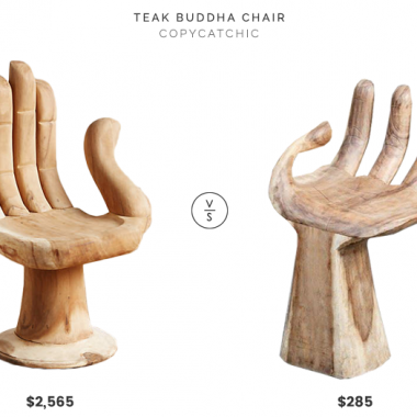 Teak Buddha Chair $2,565 vs Garden Age Supply Suarwood Hand Shaped Chair $285 teak hand shaped chair look for less, copycatchic luxe living for less budget home decor and design, daily finds, home trends, sales, budget travel and room redos