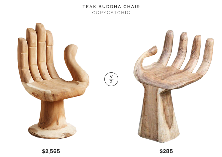 Daily Find | Teak Buddha Chair