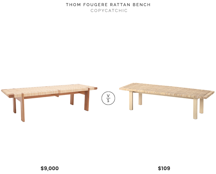 daily find thom fougere rattan bench copycatchic