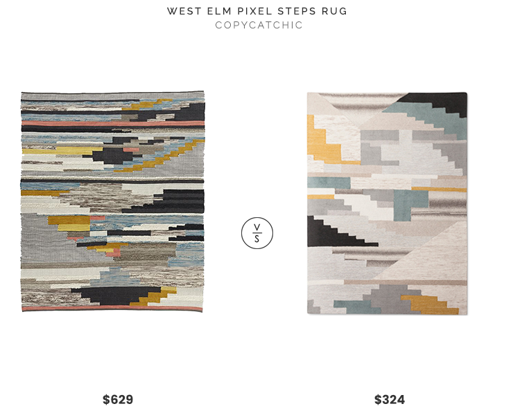 Daily Find West Elm Pixel Steps Rug Copycatchic