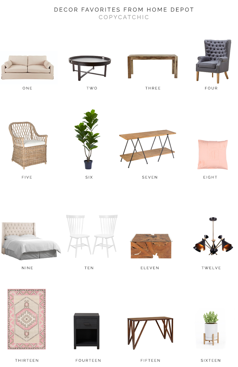 Our favorite home decor and furnishing picks from Home Depot | copycatchic luxe living for less budget home decor and design daily finds, home trends and room redos