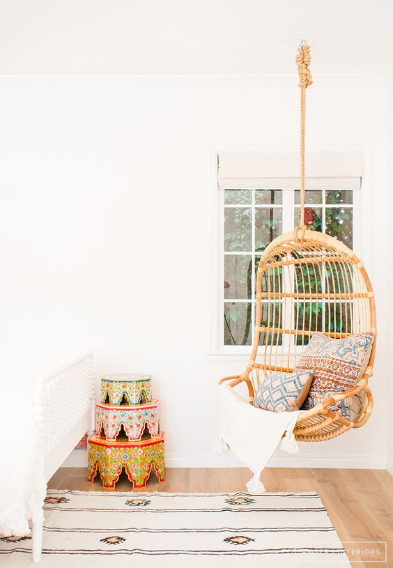 Daily Find Serena Lily Hanging Rattan Chair