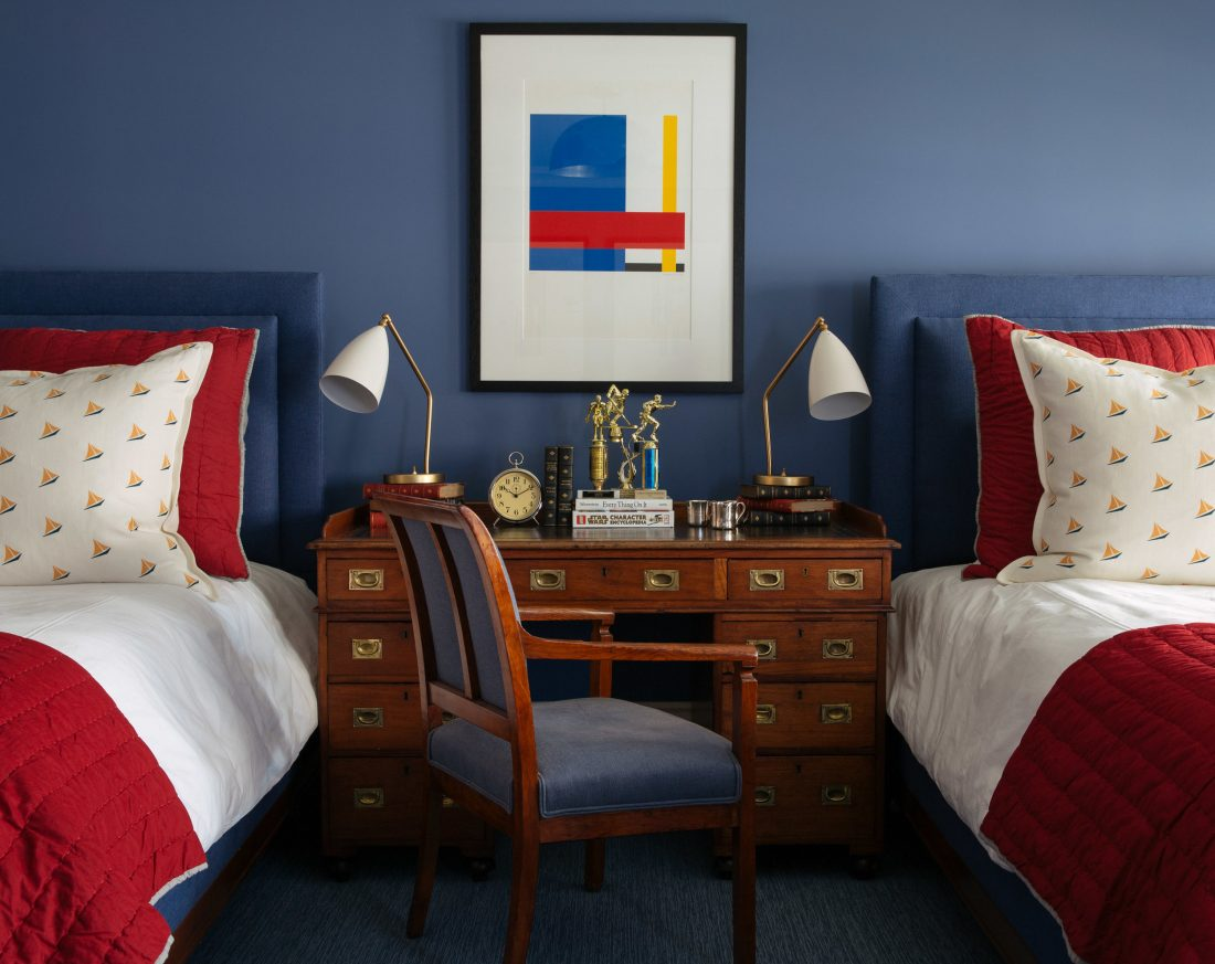 Room Redo | Red, White and Blue Bedroom