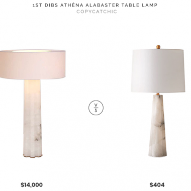 1st Dibs Hervé Van Der Straeten Athéna Alabaster Table Lamp $14,000 vs Neiman Marcus Despina Alabaster Lamp $404 alabaster table lamp look for less copycatchic luxe living for less budget home decor and design, daily finds, home trends, sales, budget travel and room redos