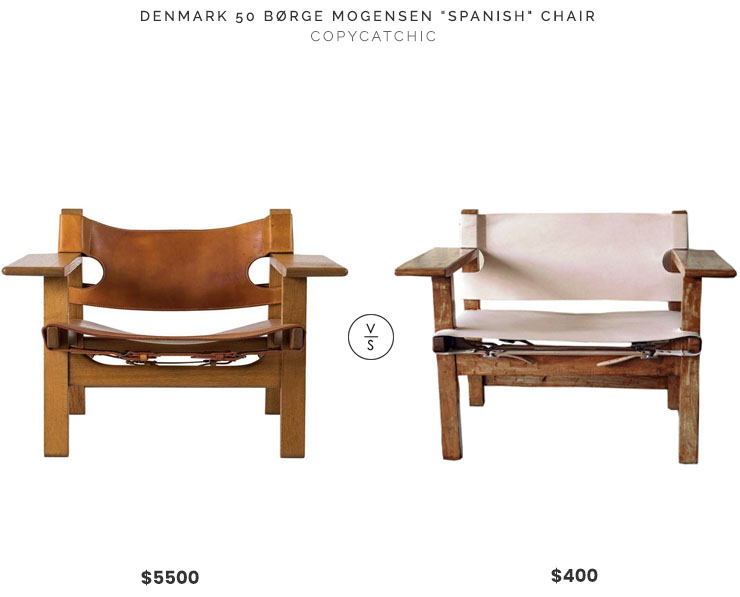 Denmark 50 Borge Morgensen Spanish Chair $5500 vs Spanish Style Genuine Leather Spanish Style Chair $400 morgensen spanish chair look for less copycatchic luxe living for less budget home decor and design, home trends, the best home sales and room redos