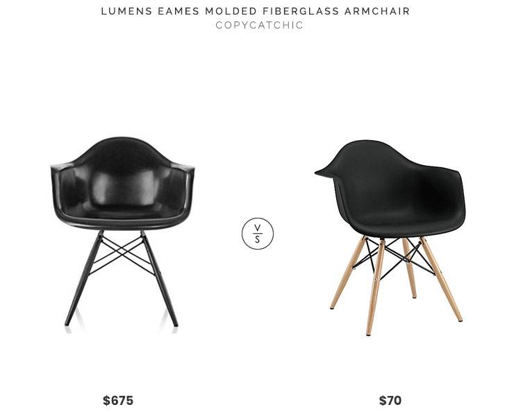 Lumens Eames Molded Fiberglass Armchair $675 Vs Bed Bath And Beyond Modway  Pyramid Dining Armchair $70