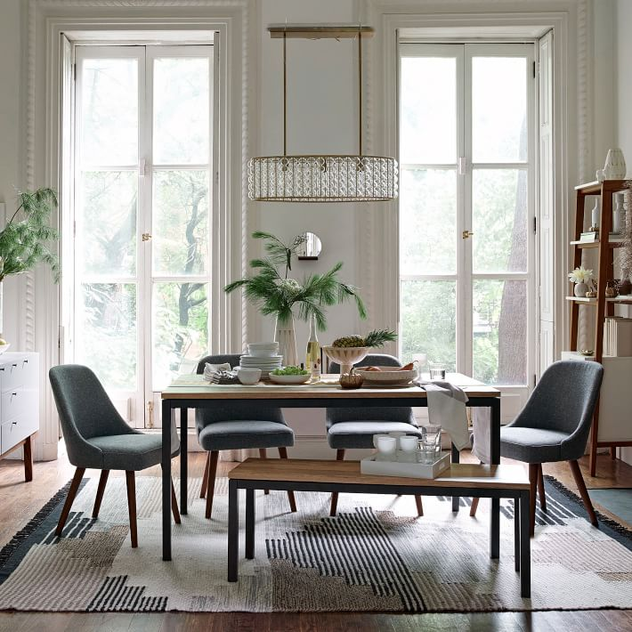 West Elm Box Frame Dining Bench $399 vs Target Hernwood Dining Bench $150 wood and metal farmhouse bench look for less copycatchic luxe living for less budget home decor and design daily finds, home trends, sales, budget travel and room redos