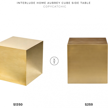 Daily Find | Interlude Home Aubrey Cube Side Table