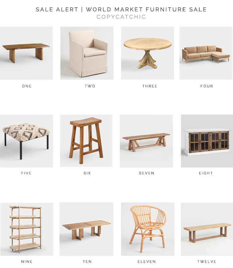 The best of World Market Furniture Sale | Extra 30% off regularly priced furniture, Online & In Stores with code FURN30 | Our favorite picks copycatchic luxe living for less budget home decor and design