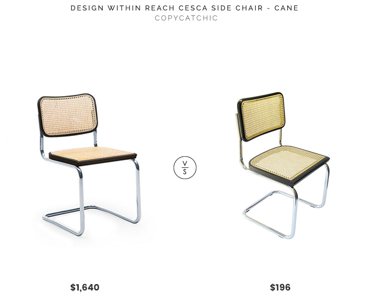 Design Within Reach Cesca Side Chair $1,640 vs. All Modern Cesca Dining Chair $196, contemporary cane chair look for less, copycatchic luxe living for less, budget home decor and design, daily finds, home trends, sales, budget travel and room redos