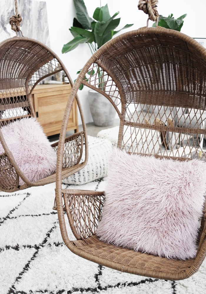 "Horchow Tibetan Lamb Pillow 26"" $375 vs. West Elm Mongolian Lamb Pillow Cover 24"" $169, pink fur pillow look for less, copycatchic luxe living for less, budget home decor and design, daily finds, home trends, sales, budget travel and room redos"
